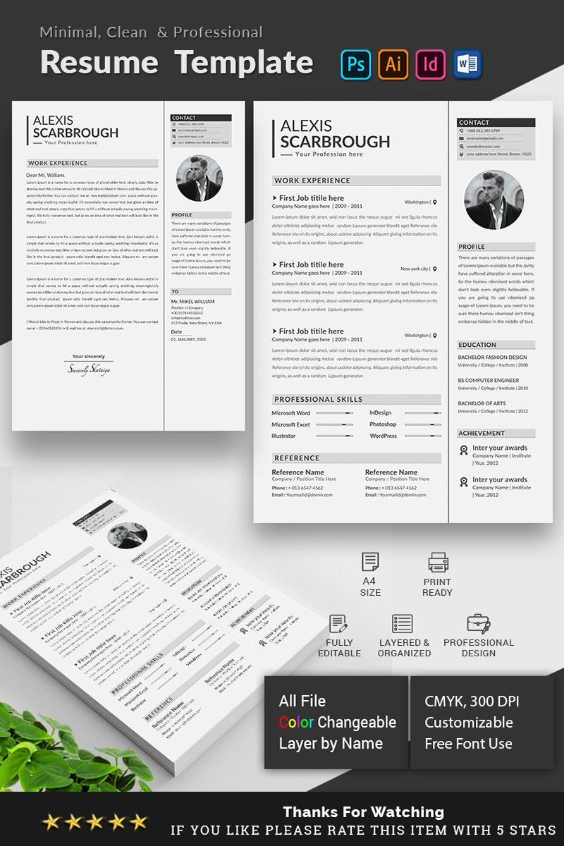 Alexis Scarbrough Resume Template - screenshot
