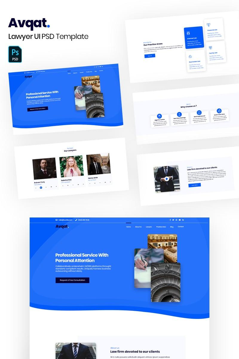 Avqat - Lawyer PSD Template - screenshot