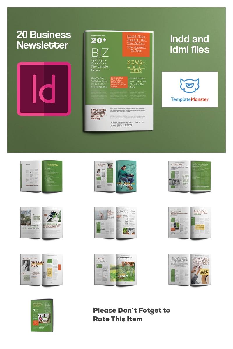 Business Newsletter Template de Identidade Corporativa №93237 - captura de tela