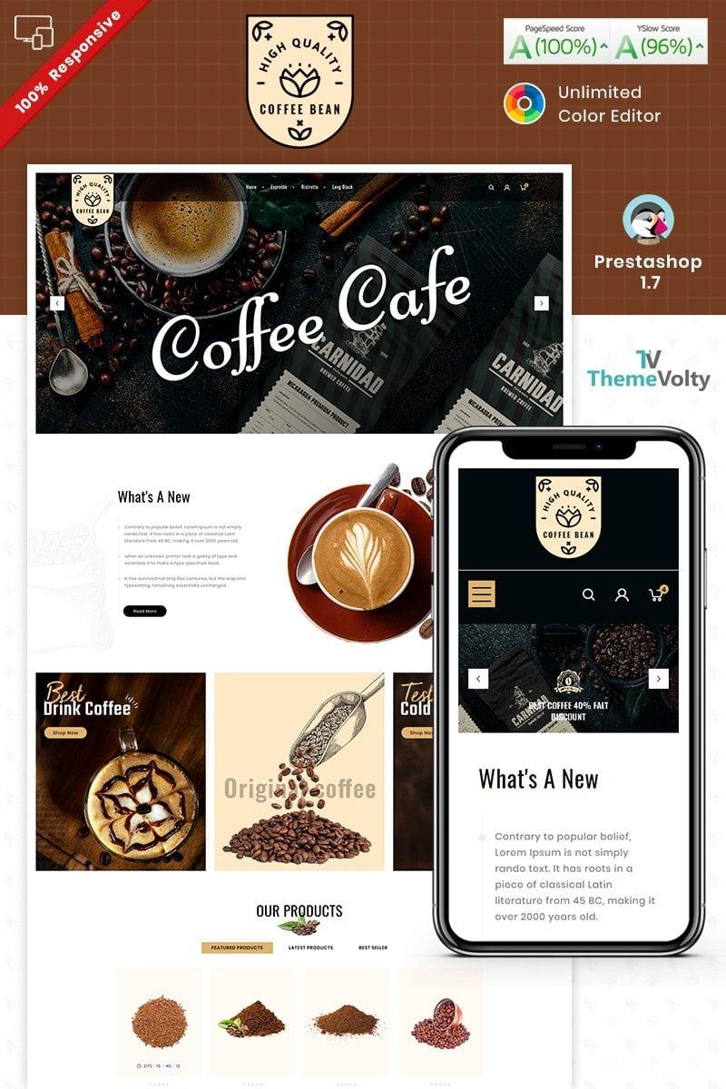 """Coffee Bean"" - PrestaShop шаблон №93285"