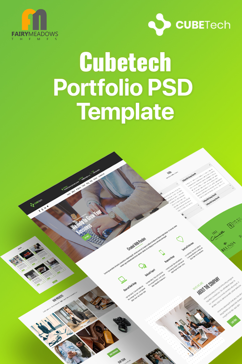 Cubetech - Portfolio Template Photoshop №93227