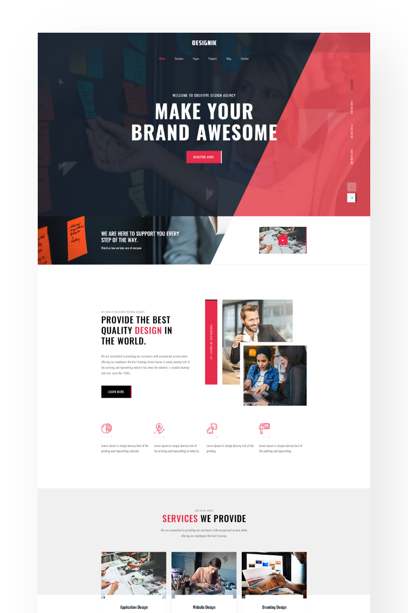 Digital Agency Website Landing Page PSD Template
