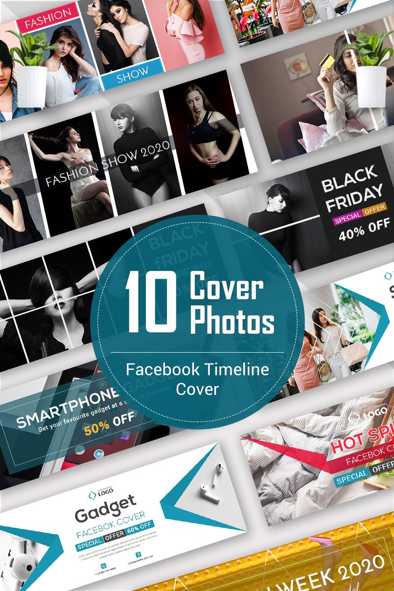 """""""10 Facebook Timeline Cover Bundle"""" média social Premium #93246"""