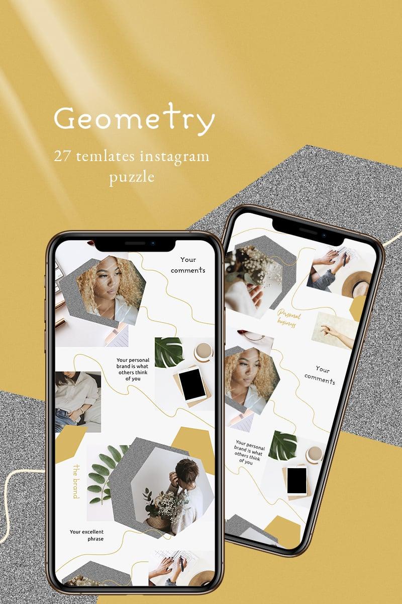 """Geometry - Instagram Template"" - Шаблон для соцмереж №93243 - скріншот"