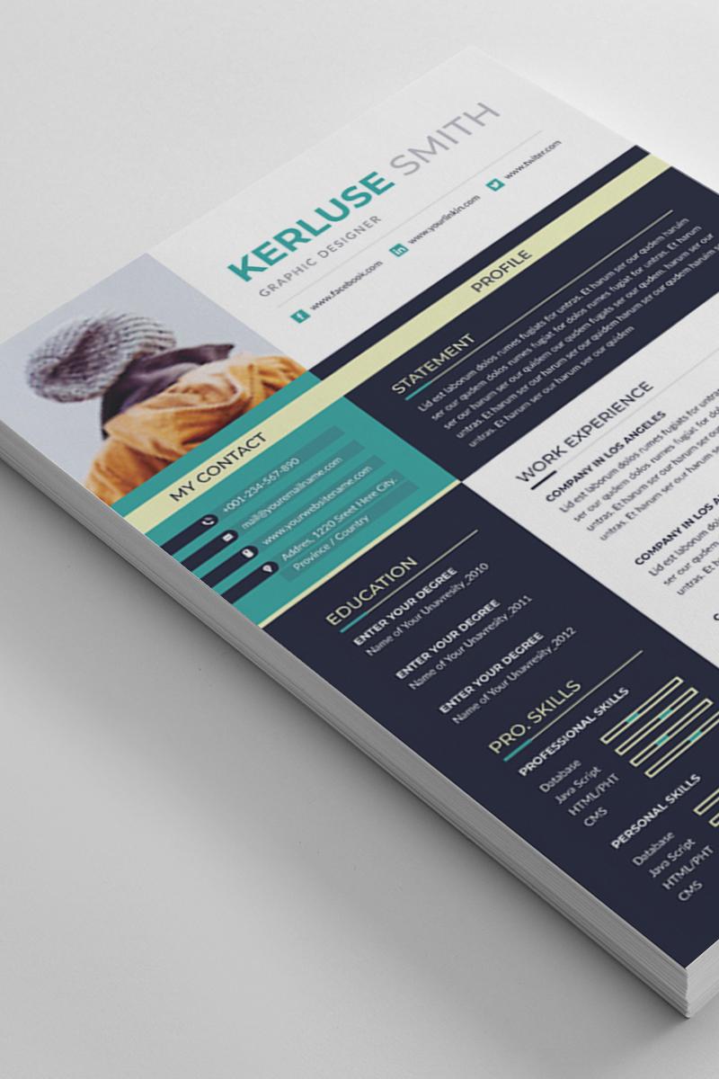 Kerluse Smith Word Resume Template - screenshot