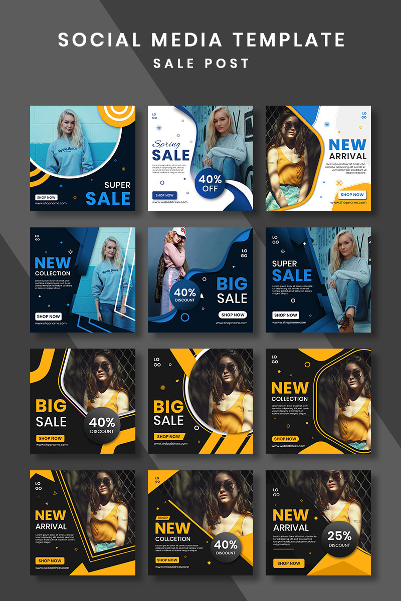 """Medios Sociales """"Sale Post Design"""" #93244 - captura de pantalla"""