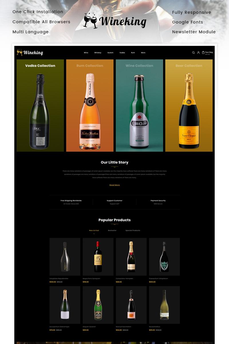 """OpenCart Vorlage namens """"WineKing - Wine Store"""" #93262"""