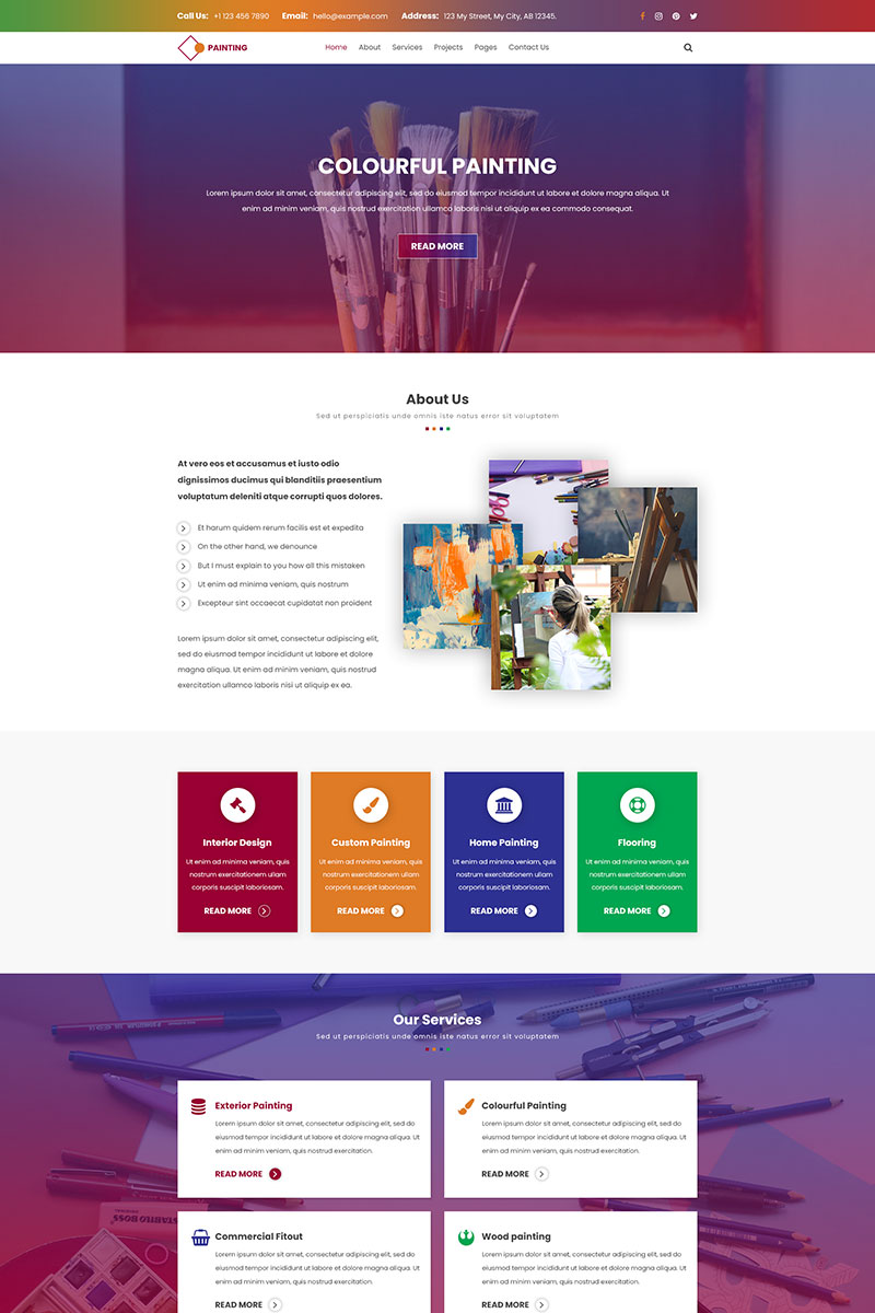 Painting | Exhibit painting PSD Template