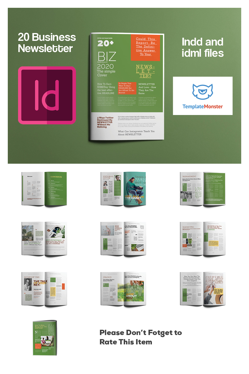 "Plantilla De Identidad Corporativa ""Business Newsletter"" #93237 - captura de pantalla"