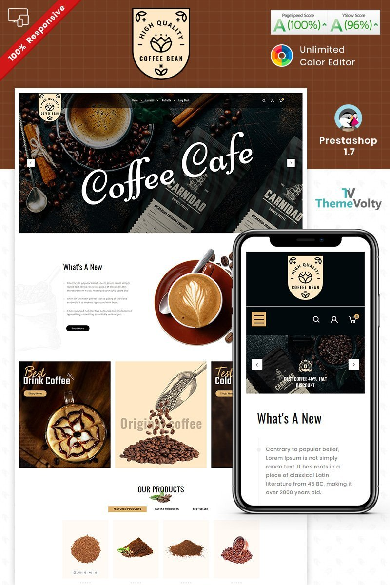 "PrestaShop motiv ""Coffee Bean"" #93285"