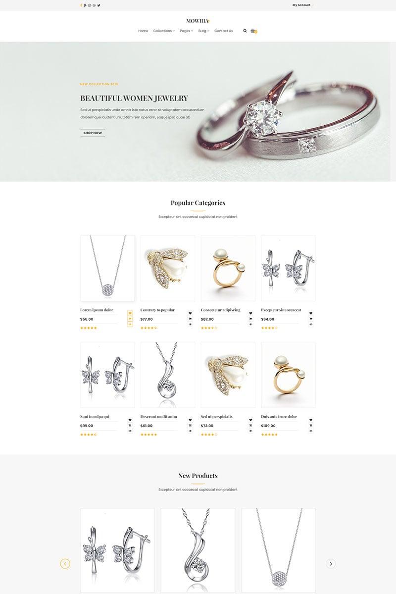 Responsivt Jewlery | Creative Multi-Purpose PSD-mall #93230