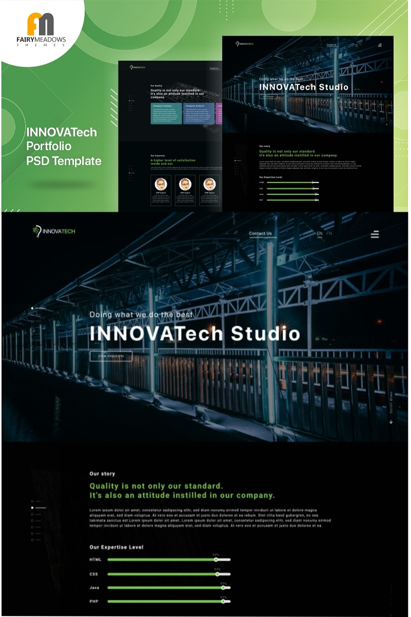 Responsywny szablon PSD Innovatech - Portfolio #93229