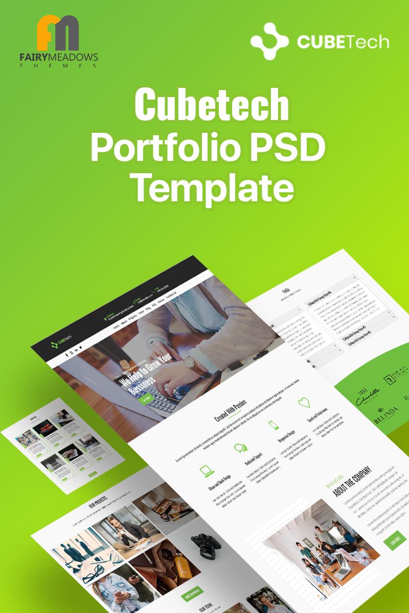 Reszponzív Cubetech - Portfolio PSD sablon 93227
