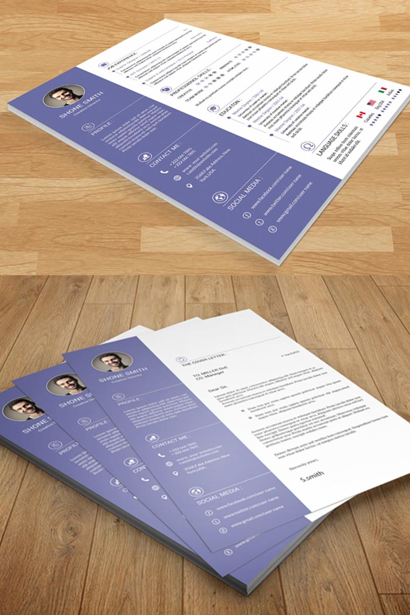 Shone Clean Resume Template - screenshot