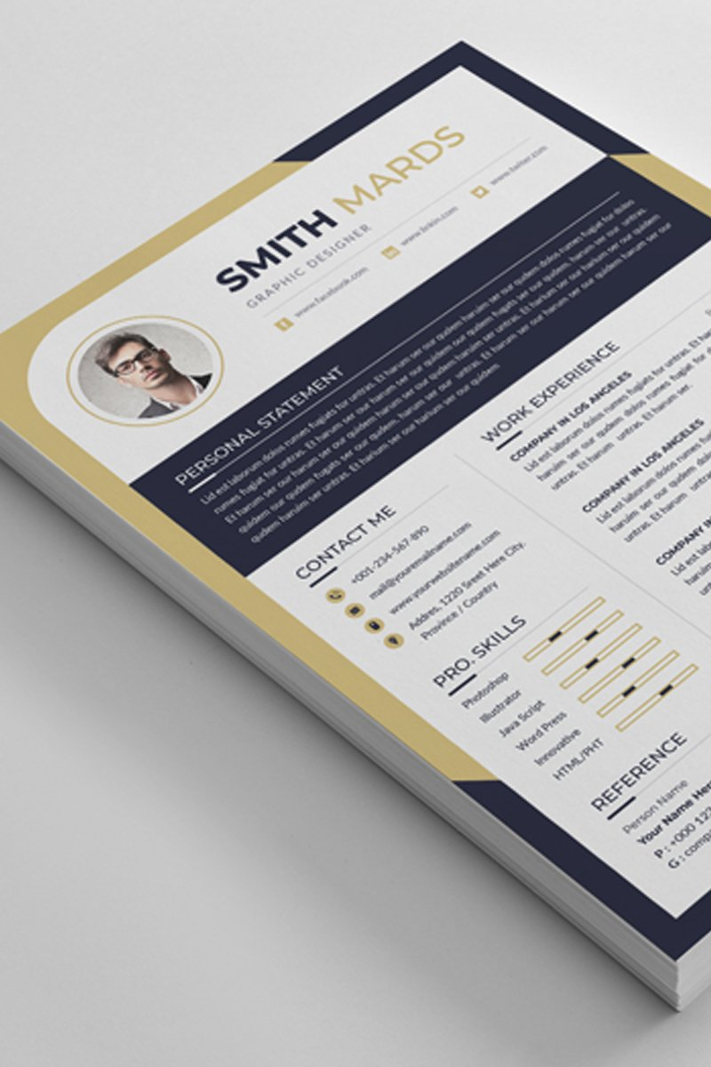 Smith Mards Word Resume Template - screenshot