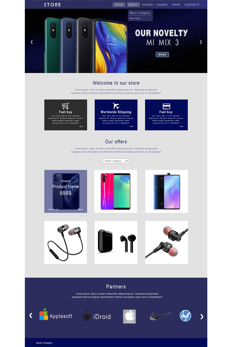 """Store"" modèle PSD  #93236 - screenshot"
