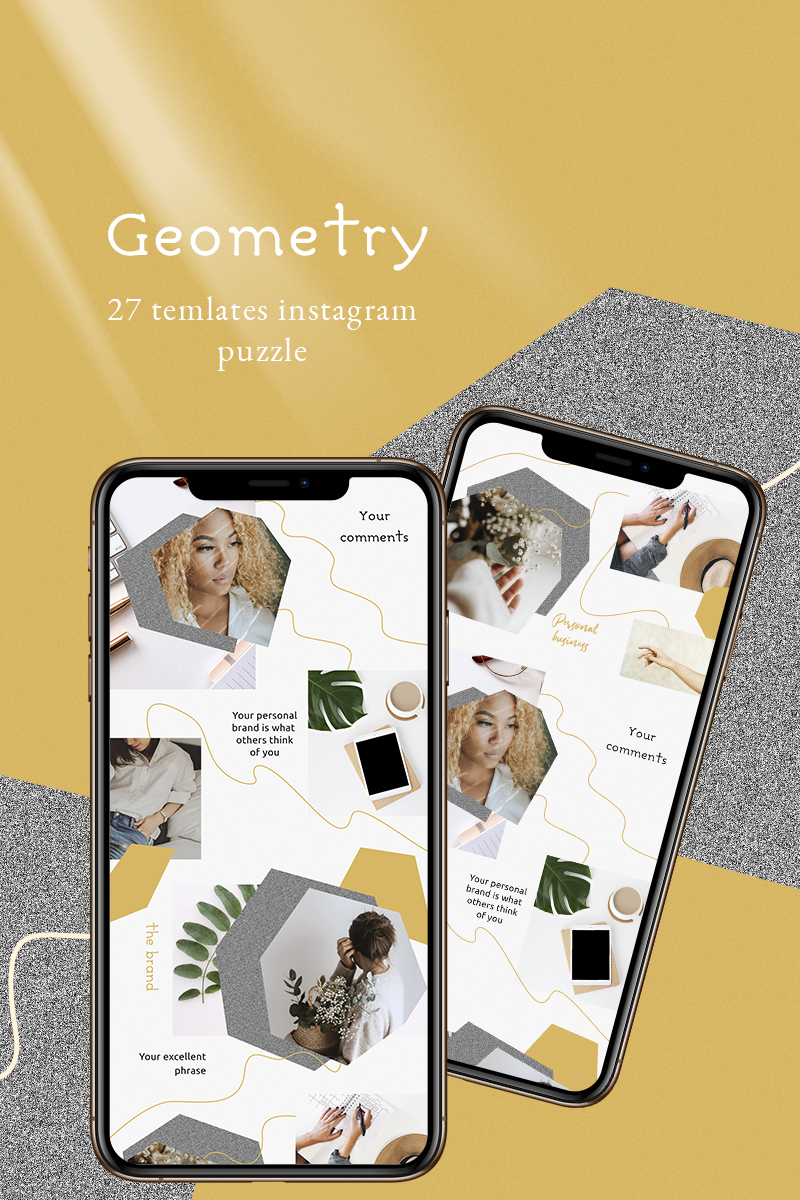 """Tema Social Media #93243 """"Geometry - Instagram Template"""" - screenshot"""