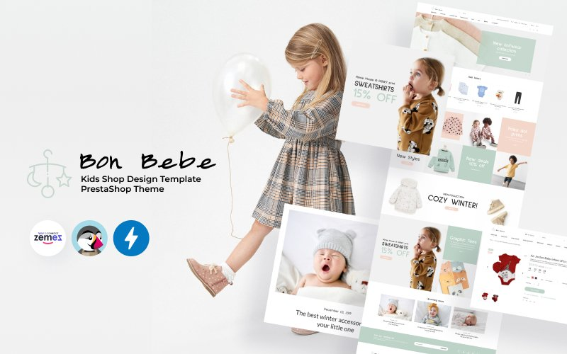 "Template PrestaShop Responsive #93202 ""Bon Bebe - Kids Shop Design Template"""