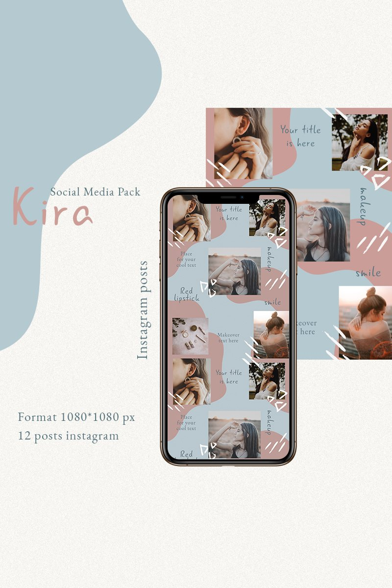 "Template Social Media #93247 ""Kira"" - screenshot"