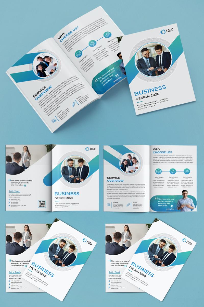 Bifold Brochure Design Corporate Identity Template - screenshot