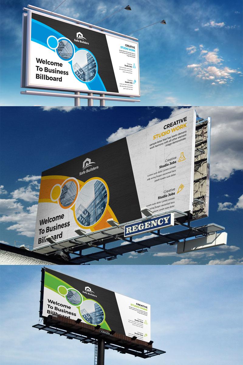 Blue Billboard Corporate Identity Template - screenshot