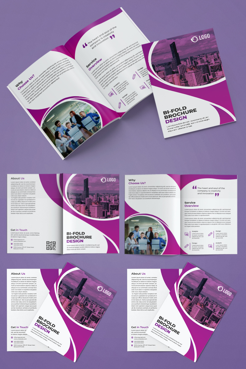 Business Bifold Brochure Design Corporate Identity Template - screenshot