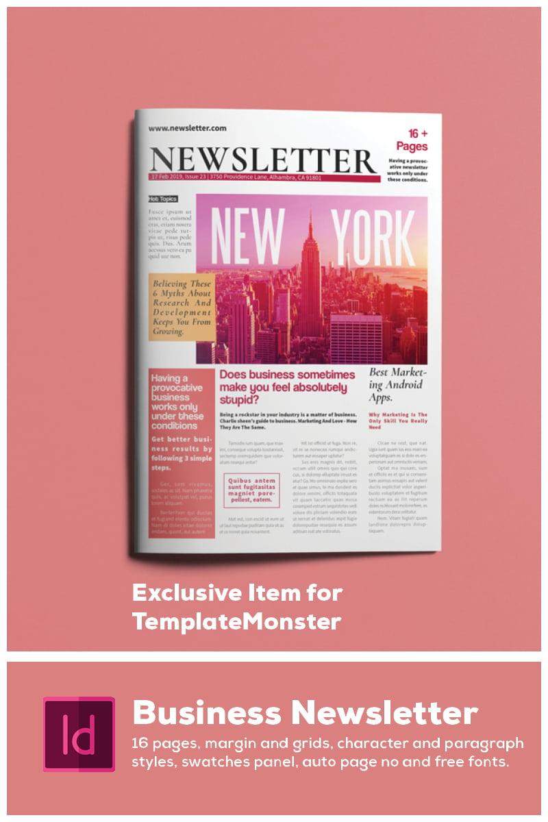 Business Newsletter Corporate Identity Template - screenshot