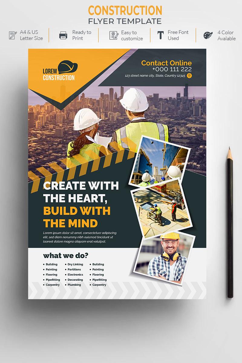 Construction Flyer Design Corporate Identity Template - screenshot