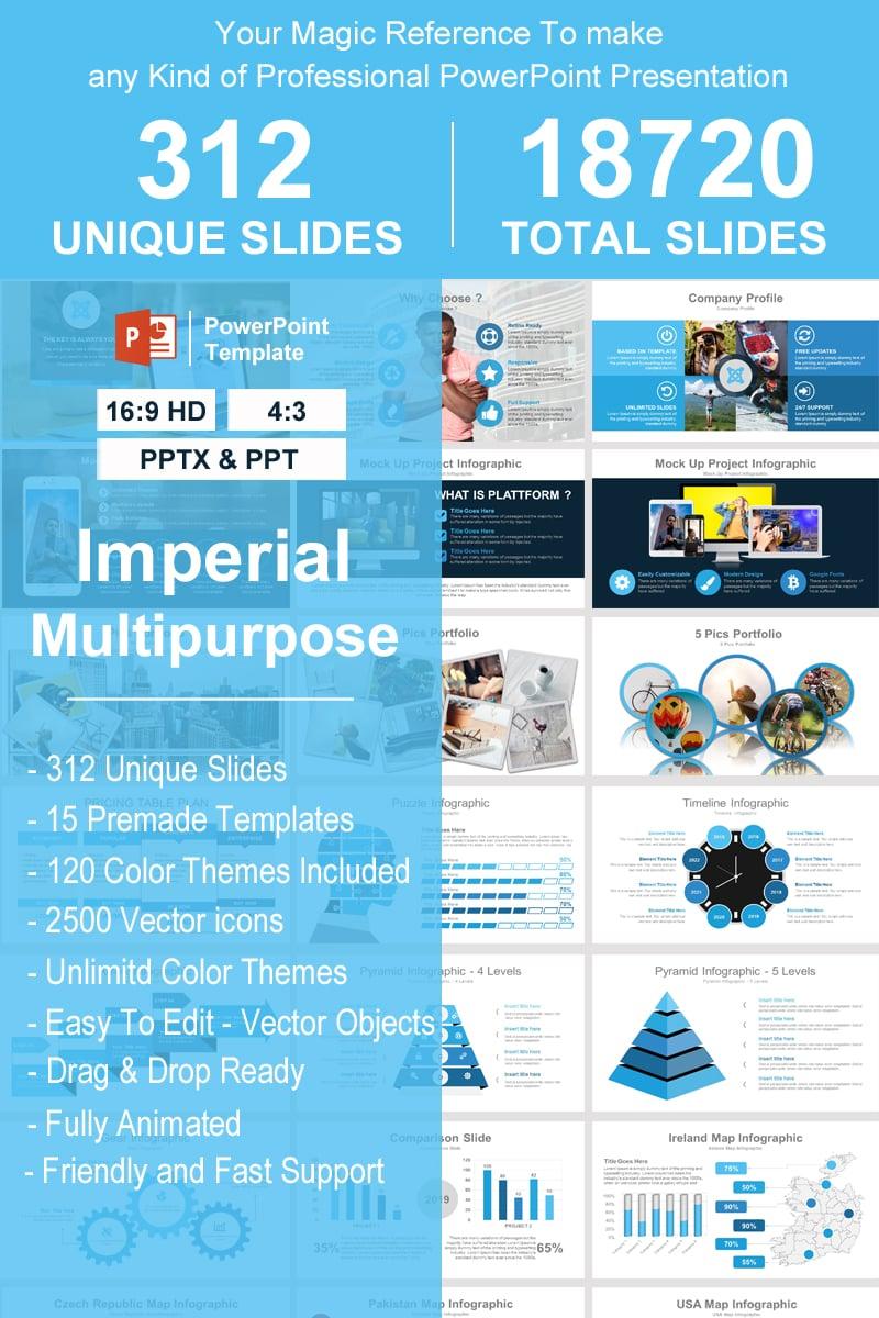 """Imperial - Multipurpose"" modèle PowerPoint Premium #93388"