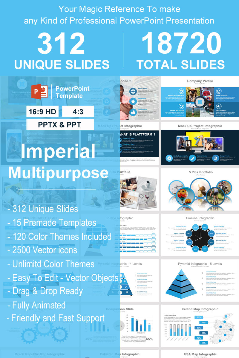 Imperial - Multipurpose Template PowerPoint №93388 - screenshot