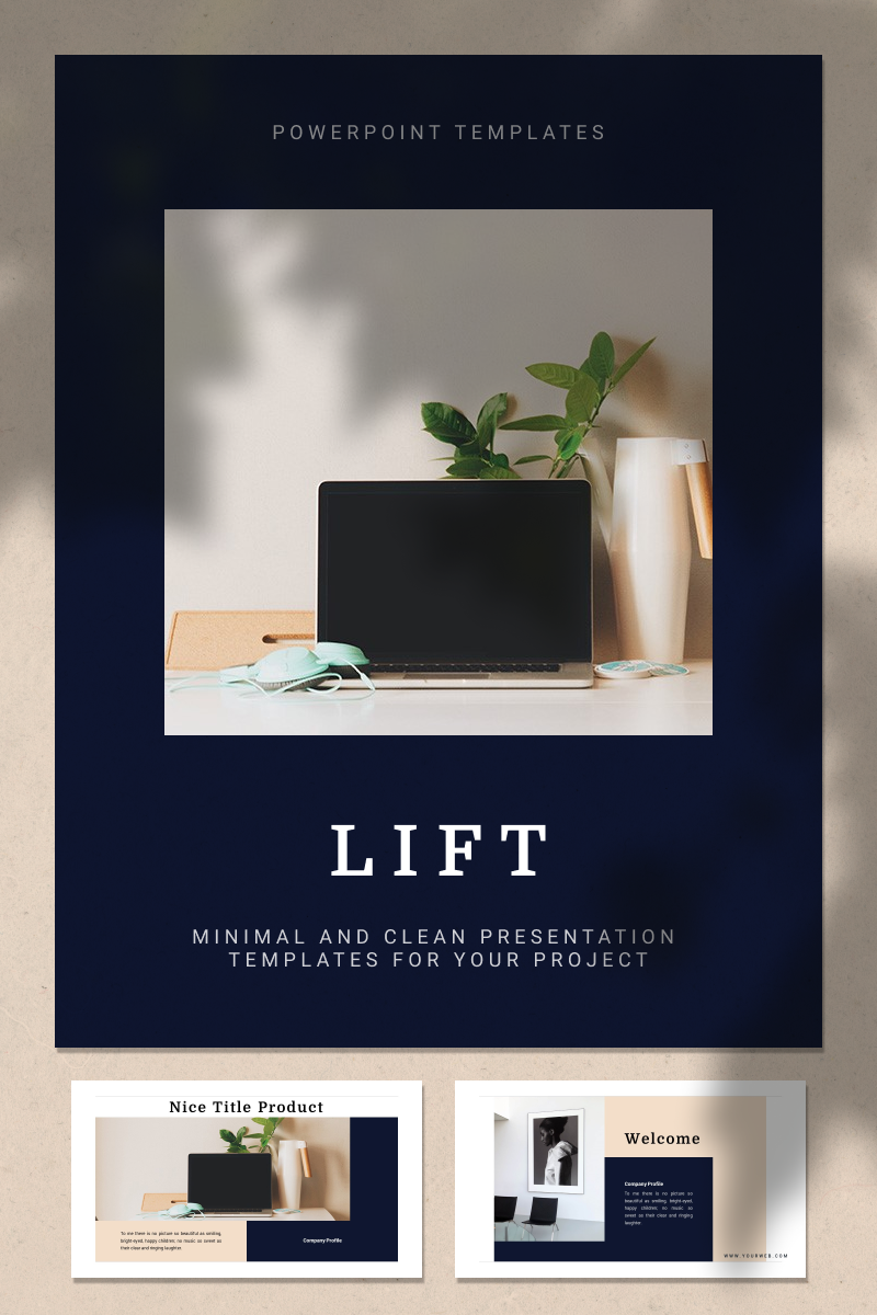 """LIFT"" PowerPoint Template №93345"