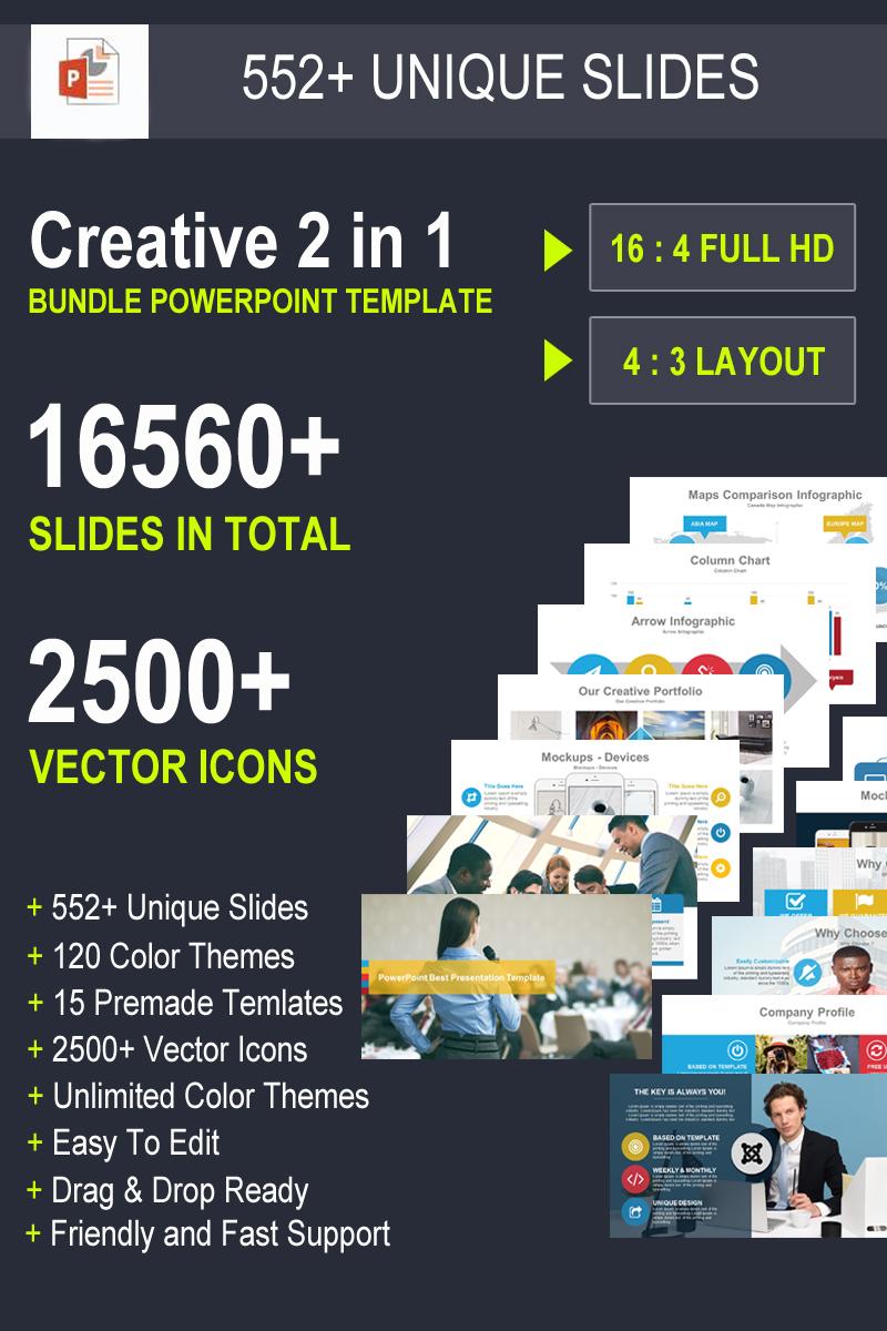 "Luxusní PowerPoint šablona ""Ceative - 2 in 1 Business Bundle"" #93358"