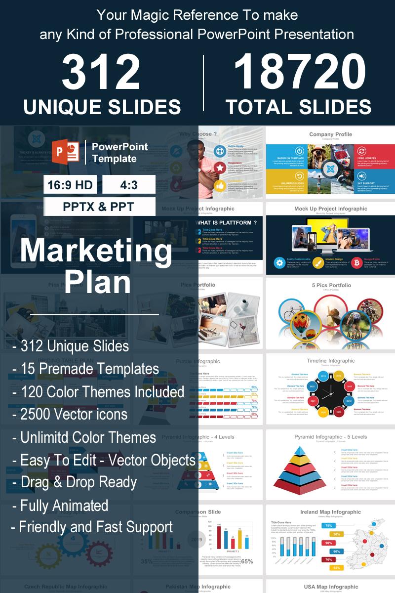 """Luxusní PowerPoint šablona """"Marketing Plan"""" #93340"""