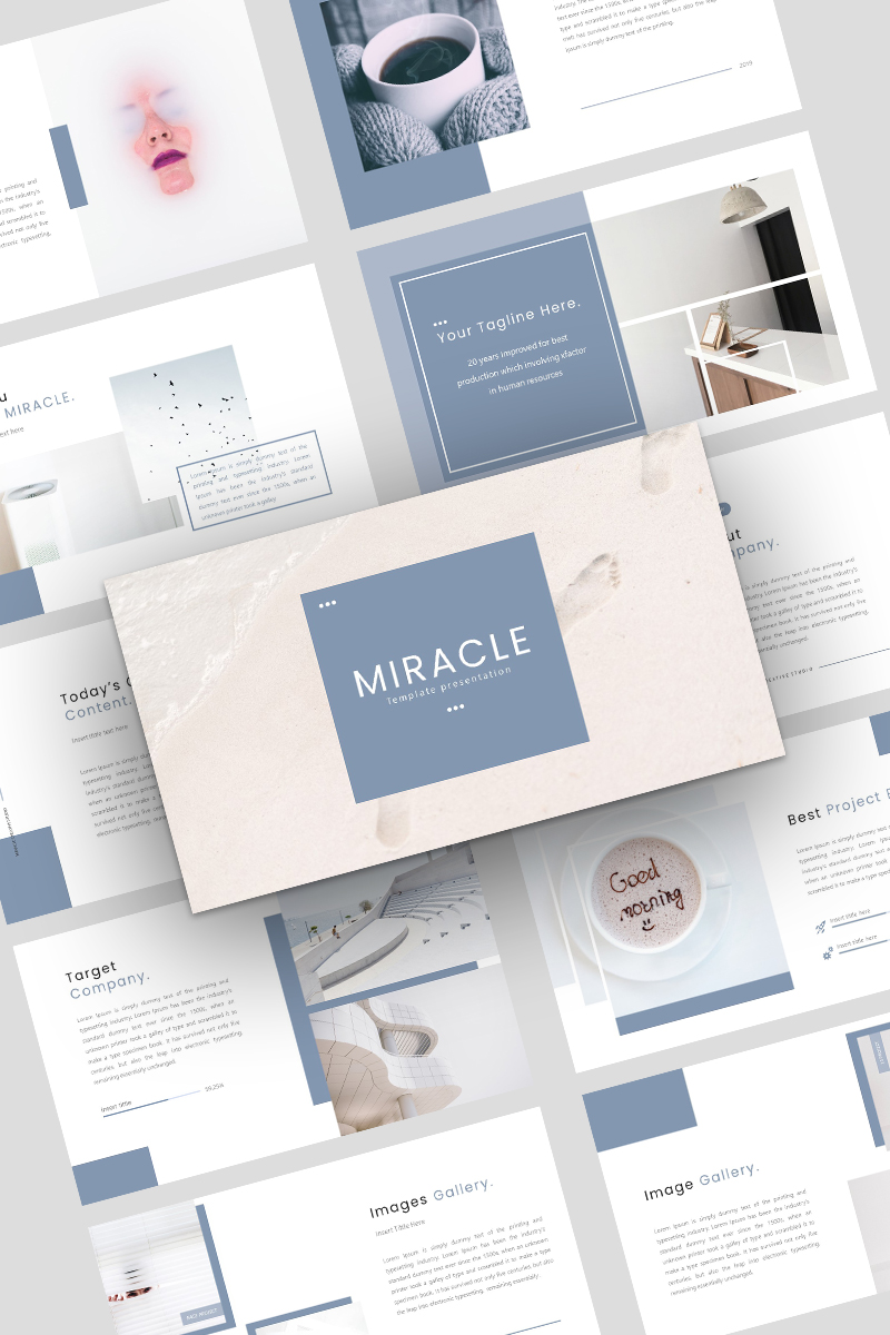 Miracle Creative Business Template PowerPoint №93361