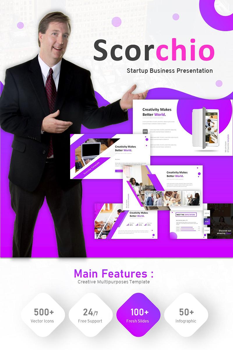 "Modello PowerPoint #93386 ""Scorchio - Startup Business"""