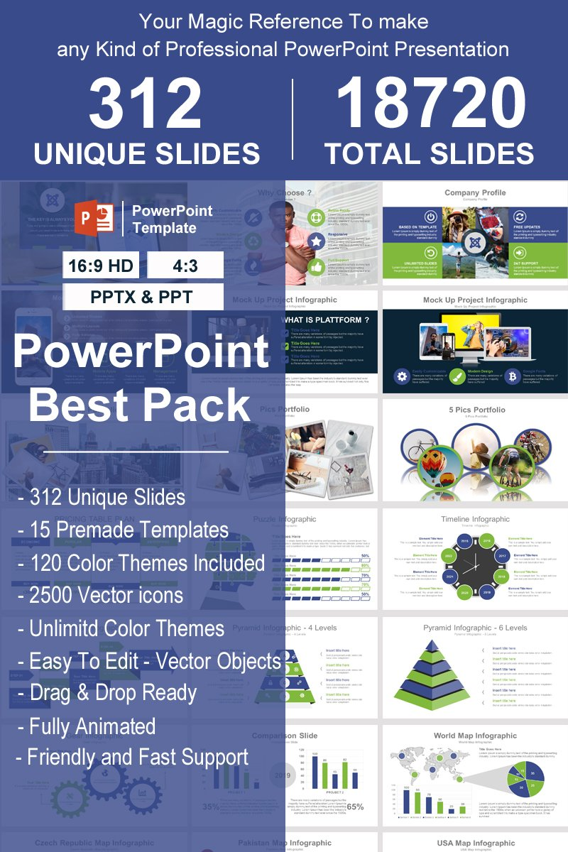 "Modello PowerPoint #93389 ""Best Pack -"" - screenshot"