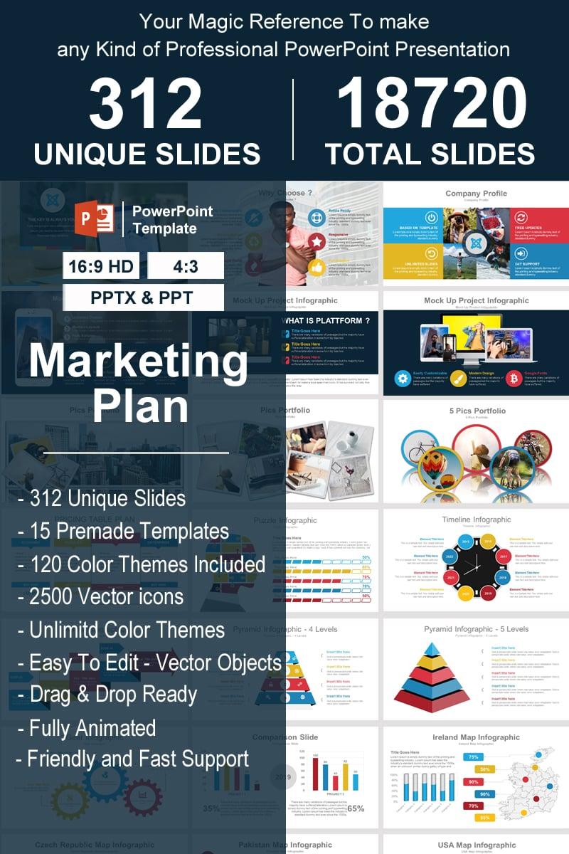 "Plantilla PowerPoint ""Marketing Plan"" #93340"