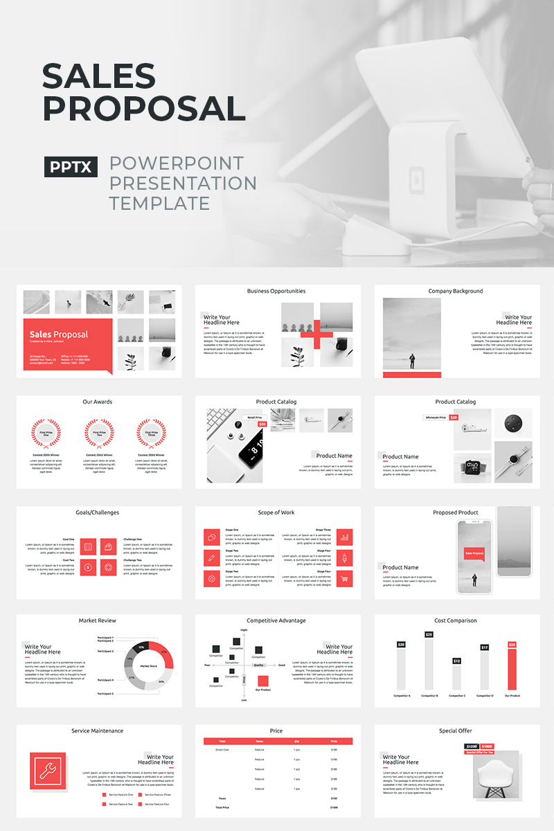 Sales Proposal - PowerPoint Template - screenshot