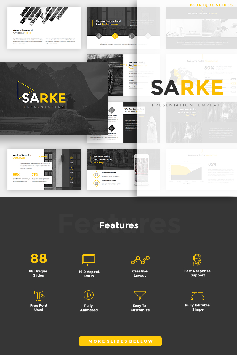 "Tema PowerPoint #93378 ""Sarke - Creative"" - screenshot"