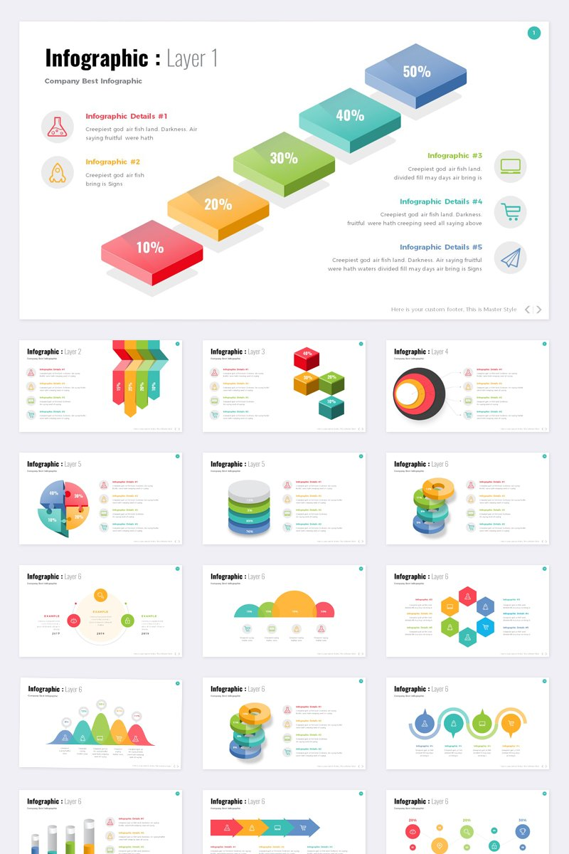 """Template PowerPoint #93379 """"Info graphic -"""""""