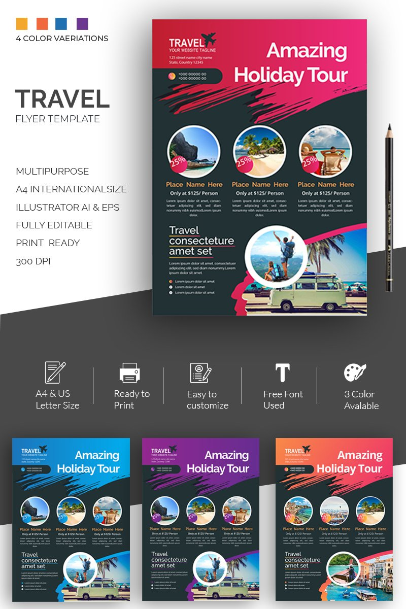 Travel Flyer Design Corporate Identity Template - screenshot