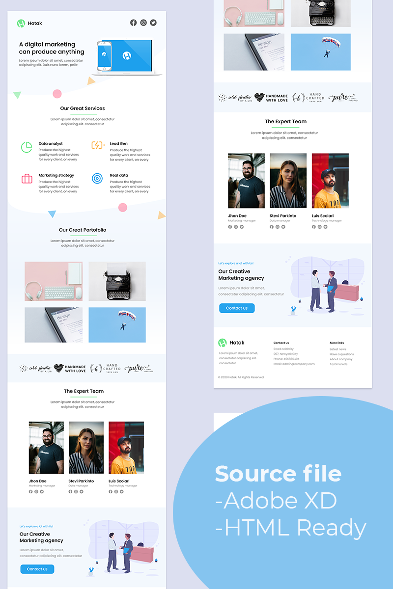 Hotak - Digital Marketing Email Newsletter Template