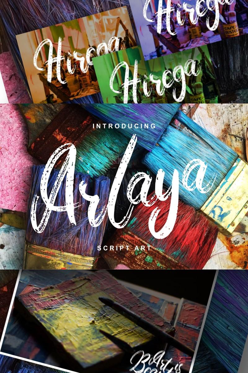 Arlaya   Script Art Font - screenshot