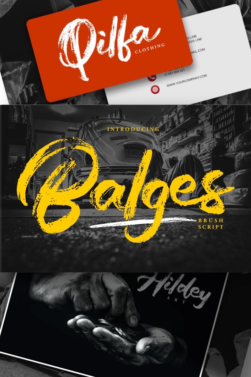 Balges   Decorative Brush Script Font - screenshot