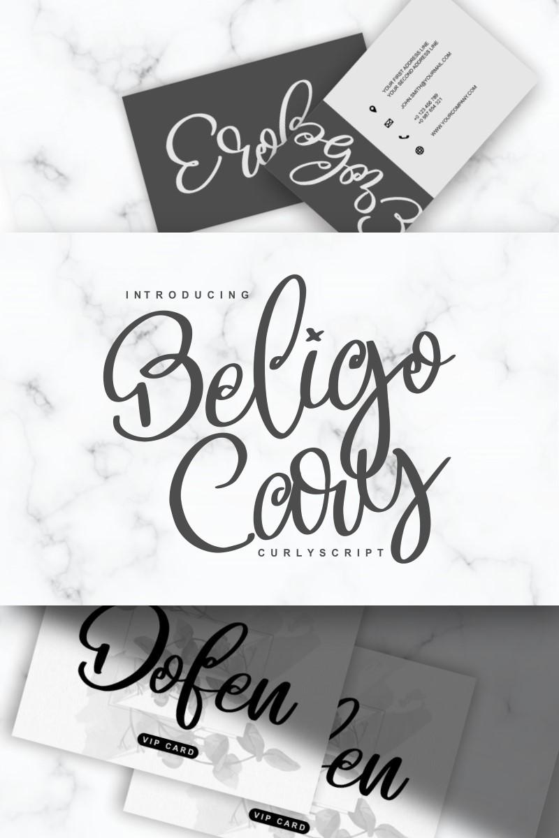 Beligo Cary | Curly Script Font - screenshot
