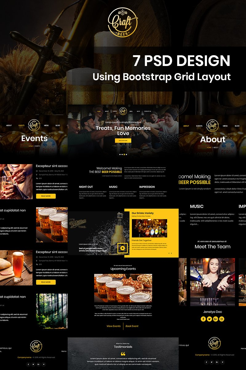 Bratl Beer - Beer Pub PSD Template - screenshot