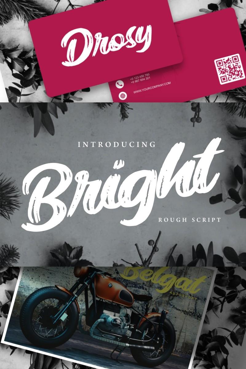 Bright | Modern Rough Script Font - screenshot