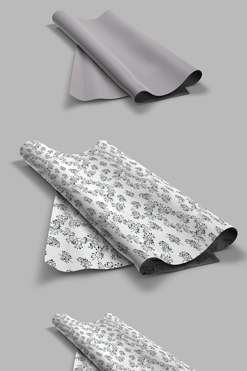 Elegant pattern on fabric Product Mockup