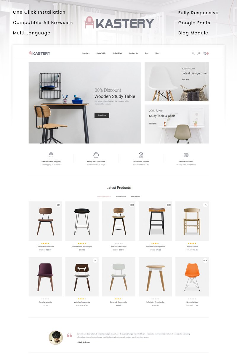 Kastery - Wood Store PrestaShop Theme