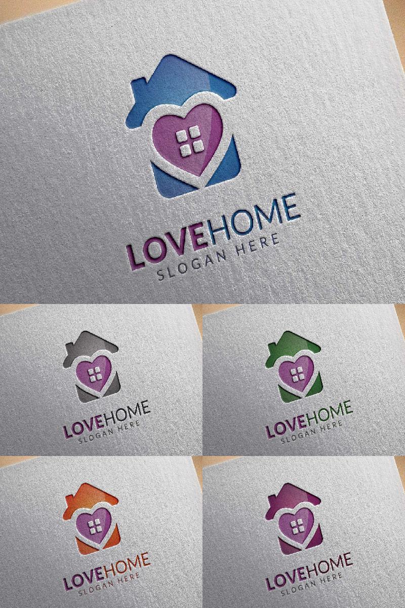 Love Home Logo Template - screenshot